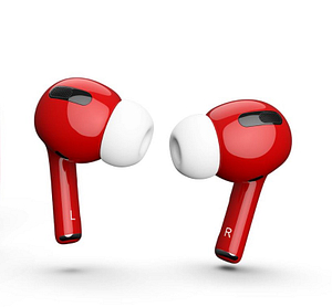 Red Colored AirPods Pro