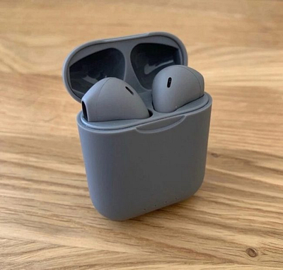 Gray airpods. Wireless Pods 2.0